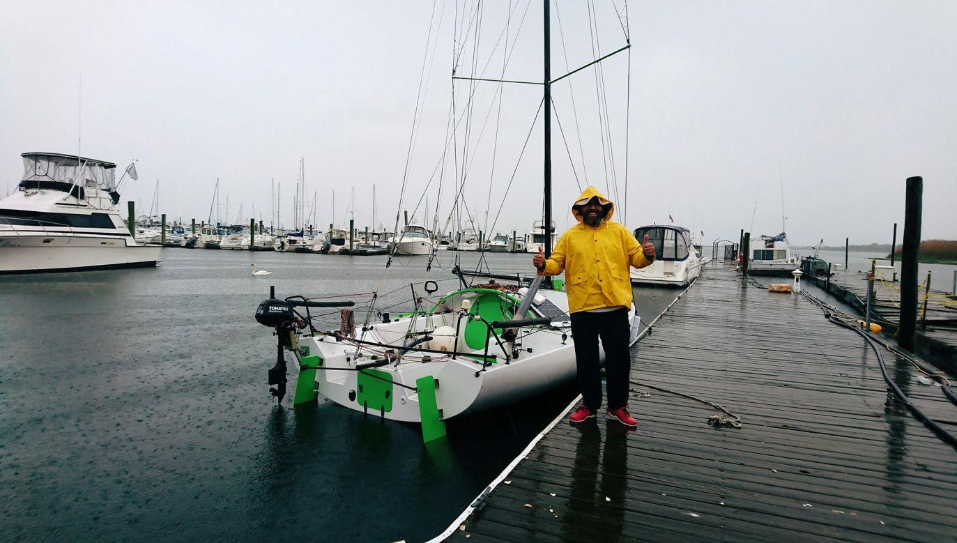 Jacht Bartosza Balińskiego (fot. facebook.com)