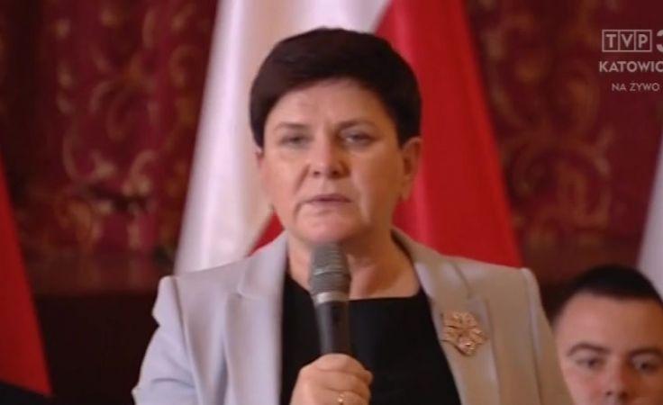 Beata Szydło fot. TVP3 Katowice