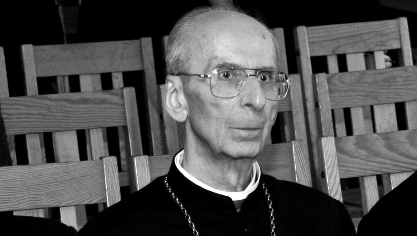 Emerytowany biskup pomocniczy diecezji opolskiej, Jan Bagiński (fot. arch. PAP/Krzysztof Świderski)