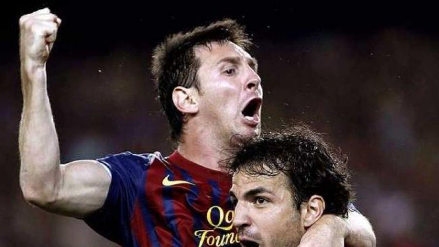 40131eca7 Dwaj wielcy wychowankowie La Masii - Leo Messi i Cesc Fabregas (fot. A.