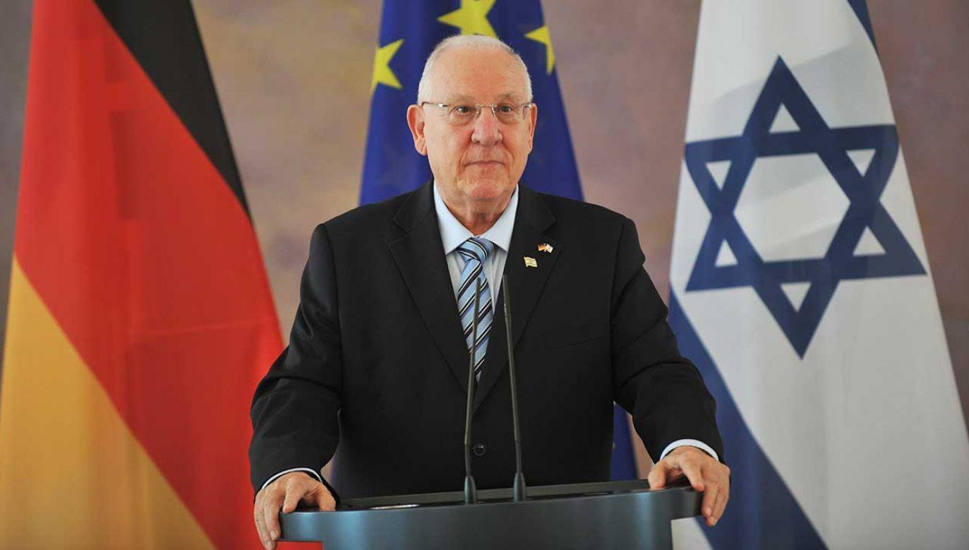 Prezydent Izraela Reuven Rivlin (fot. Erbil Basay/Anadolu Agency/Getty Images)