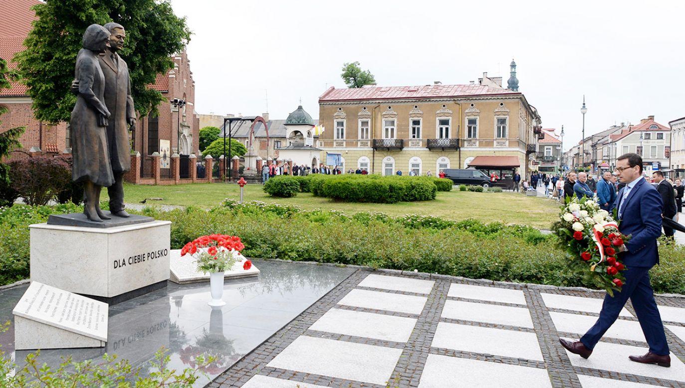 Monument znajduje się na rogu ulic Żeromskiego i Traugutta w Radomiu (fot. PAP/Piotr Polak)