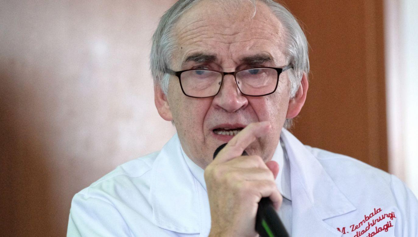 Były minister zdrowia profesor Marian Zembala został wyróżniony Diamentowym Laurem Umiejętności i Kompetencji (fot. PAP/Andrzej Grygiel