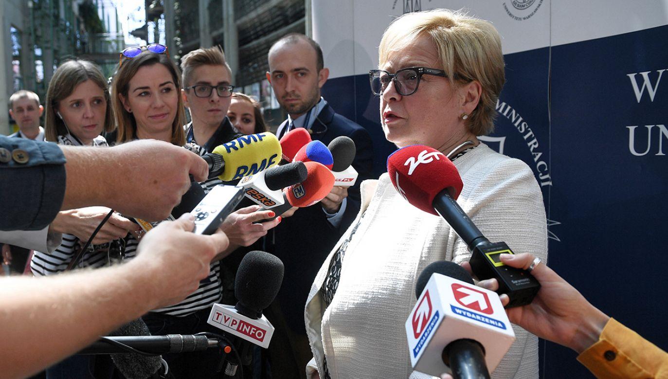 Małgorzata Gersdorf uważa, że wciąż jest I prezesem SN (fot. arch. PAP/Jacek Turczyk)