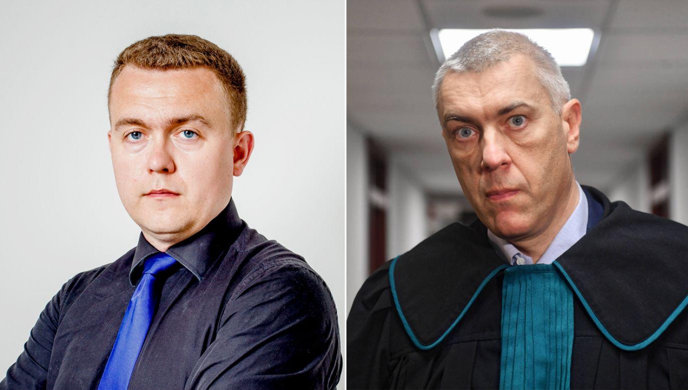 """Nisztor (L) pozwał Giertycha za nazwanie go """"gangsterem i bandytą"""" (fot. PAP/ Arek Markowicz/Marcin Gadomski)"""