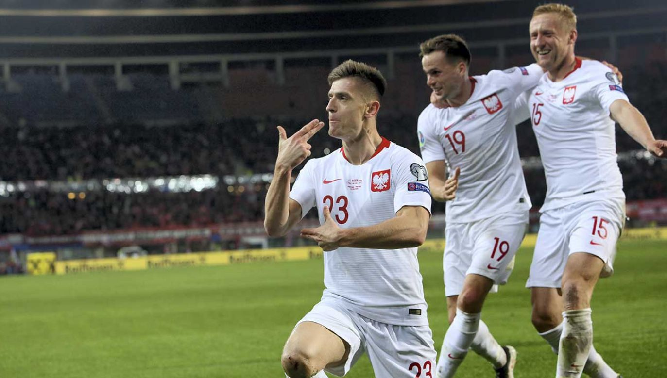 Strzela w Genoi, strzela w Milanie, strzela również dla reprezentacji Polski. Krzysztof Piątek znów zachwycił! (fot. PAP/Leszek Szymański)