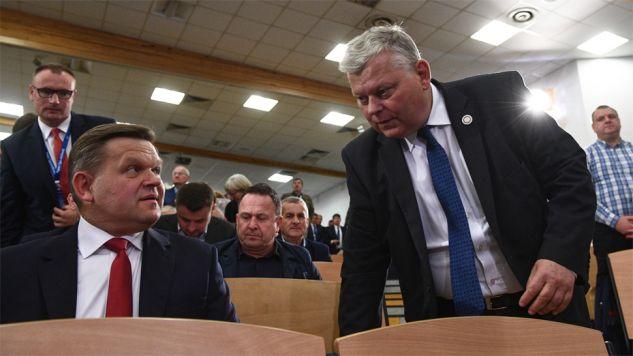 Wojciech Skurkiewicz i Marek Suski (fot. PAP/Jacek Turczyk)
