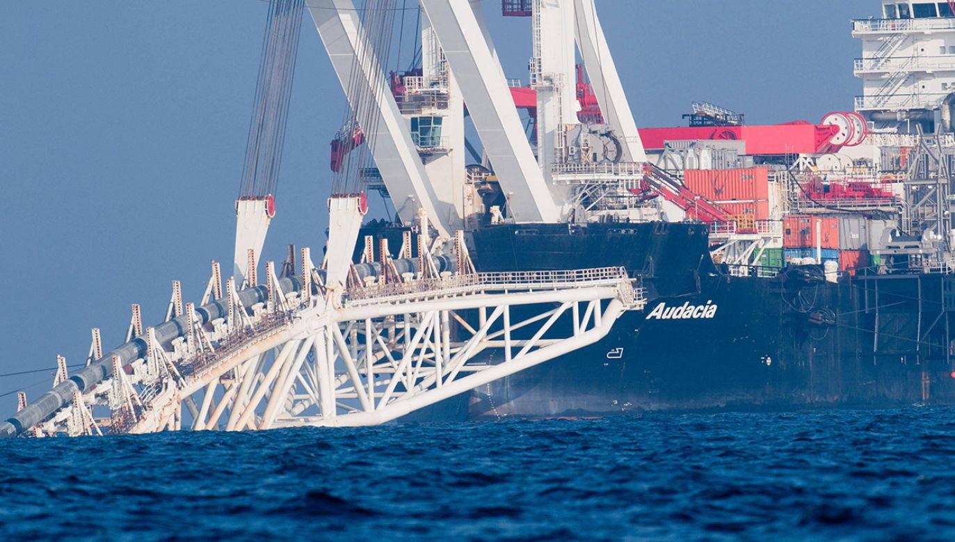 Budowa Nord Stream 2 (fot. arch.PAP/Stefan Sauer/dpa-Zentralbild/dpa)