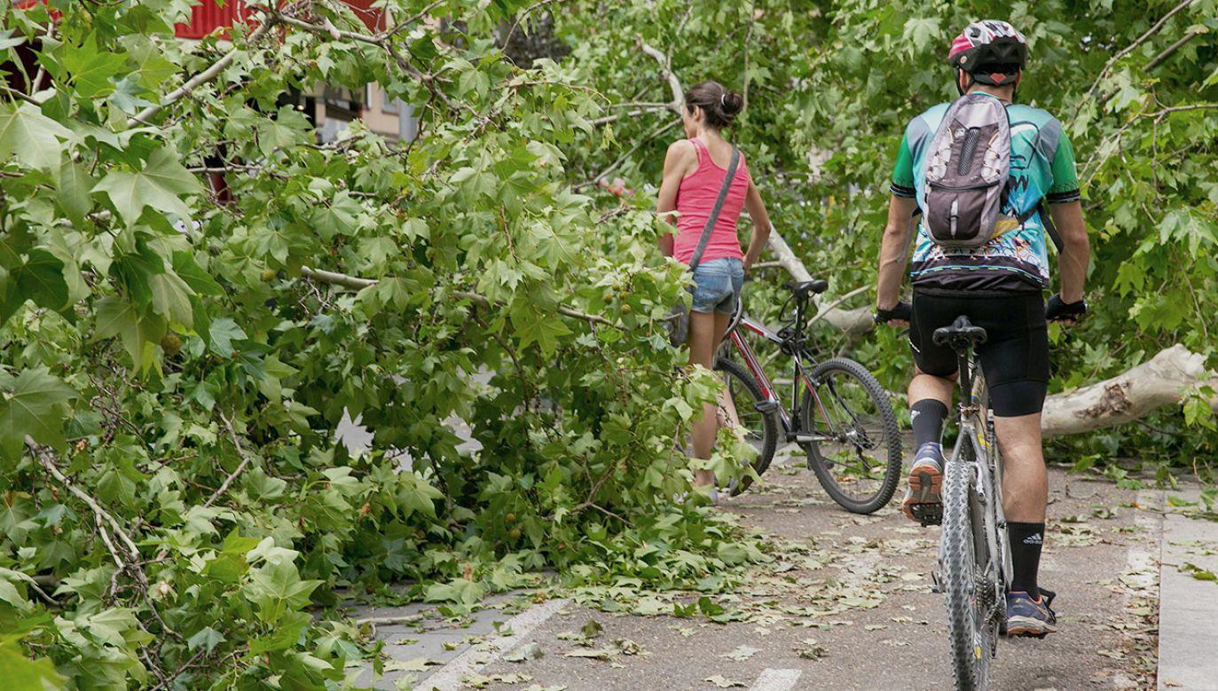 Niebezpieczne zjawiska wystąpią we wschodniej połowie Polski (fot. PAP/ EPA/JAVIER CEBOLLADA)