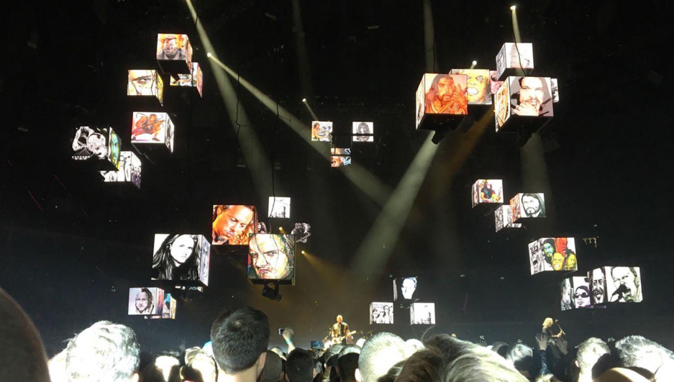 Koncert zespołu Metallica odbył się w Tauron Arenie w Krakowie (fot. TVP Info/Michał Fiedorowicz)