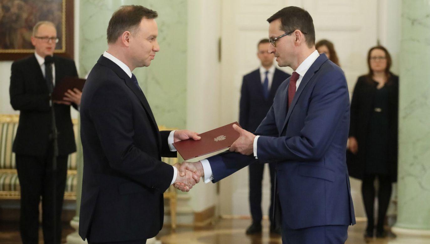 Prezydent Andrzej Duda desygnował Mateusza Morawieckiego na premiera (fot. PAP/Paweł Supernak)