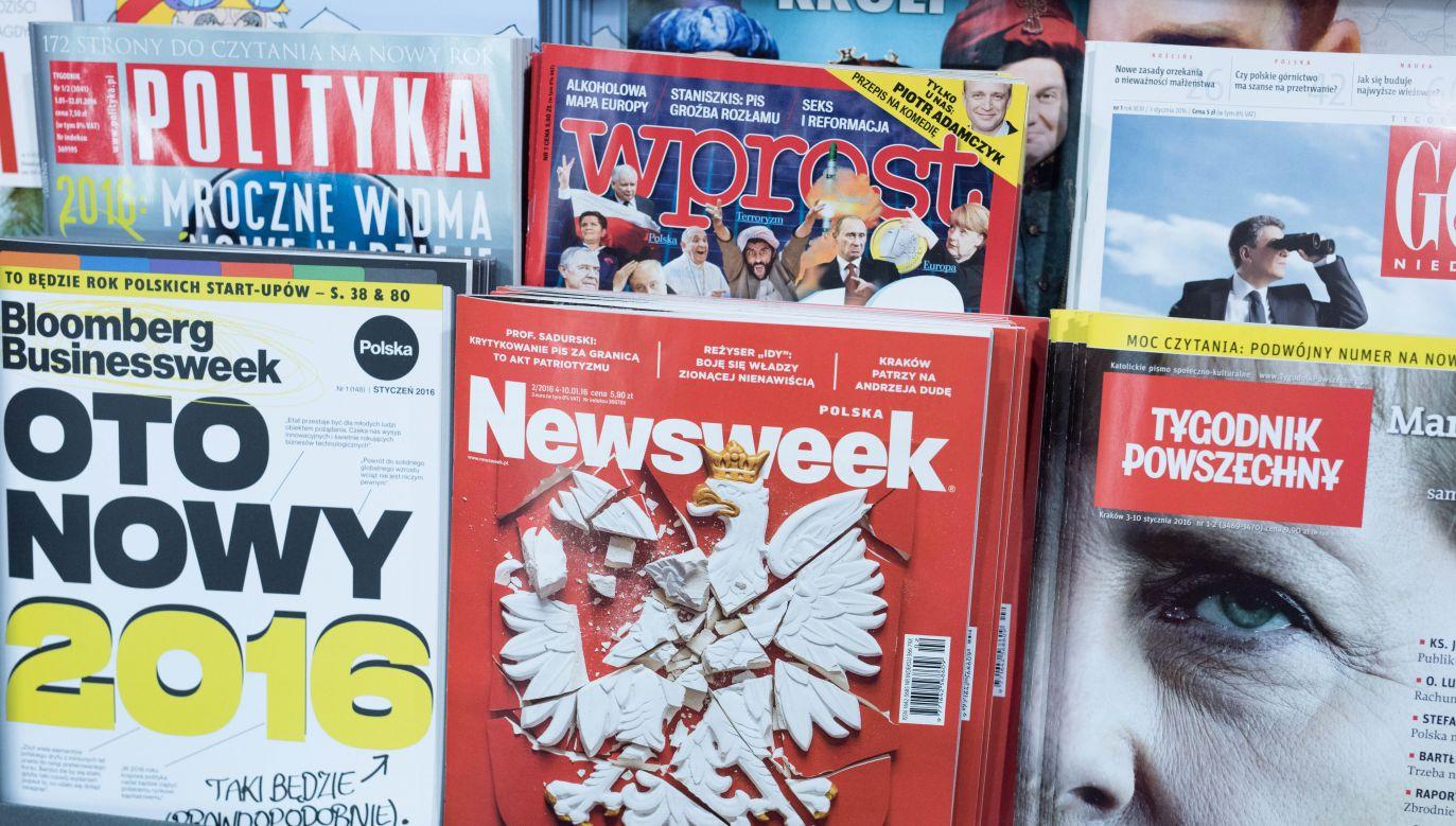 Prasowe doniesienia z kraju i świata o poranku w TVP Info (fot. arch.PAP/Marcin Kaliński)