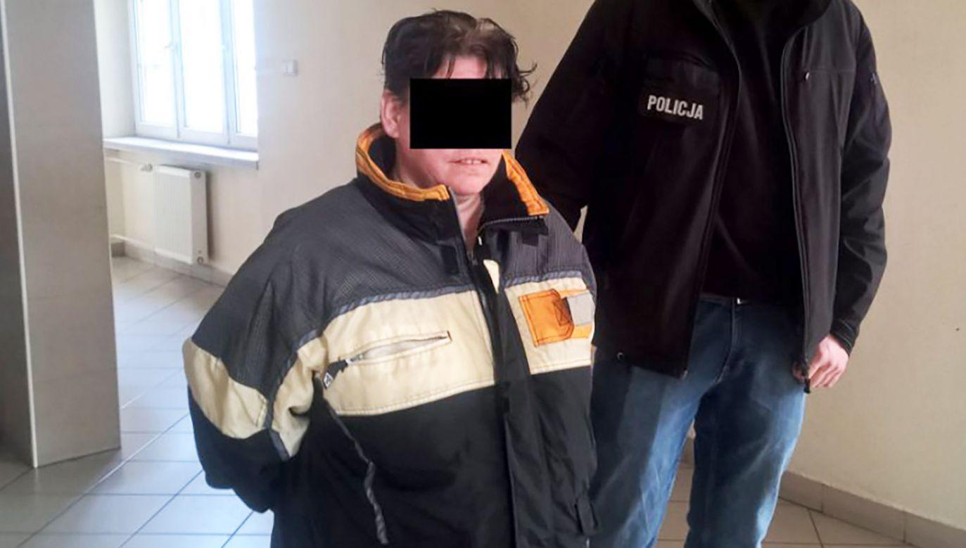 46-letnia Agnieszka M. miała ponad promil alkoholu w organizmie (fot. policja.pl)