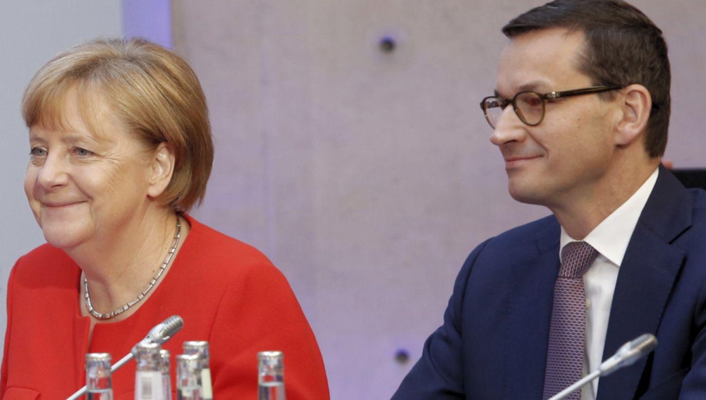 Premier Morawiecki spotkał się z kanclerz Niemiec Angelą Merkel (fot. PAP/Adam Guz)