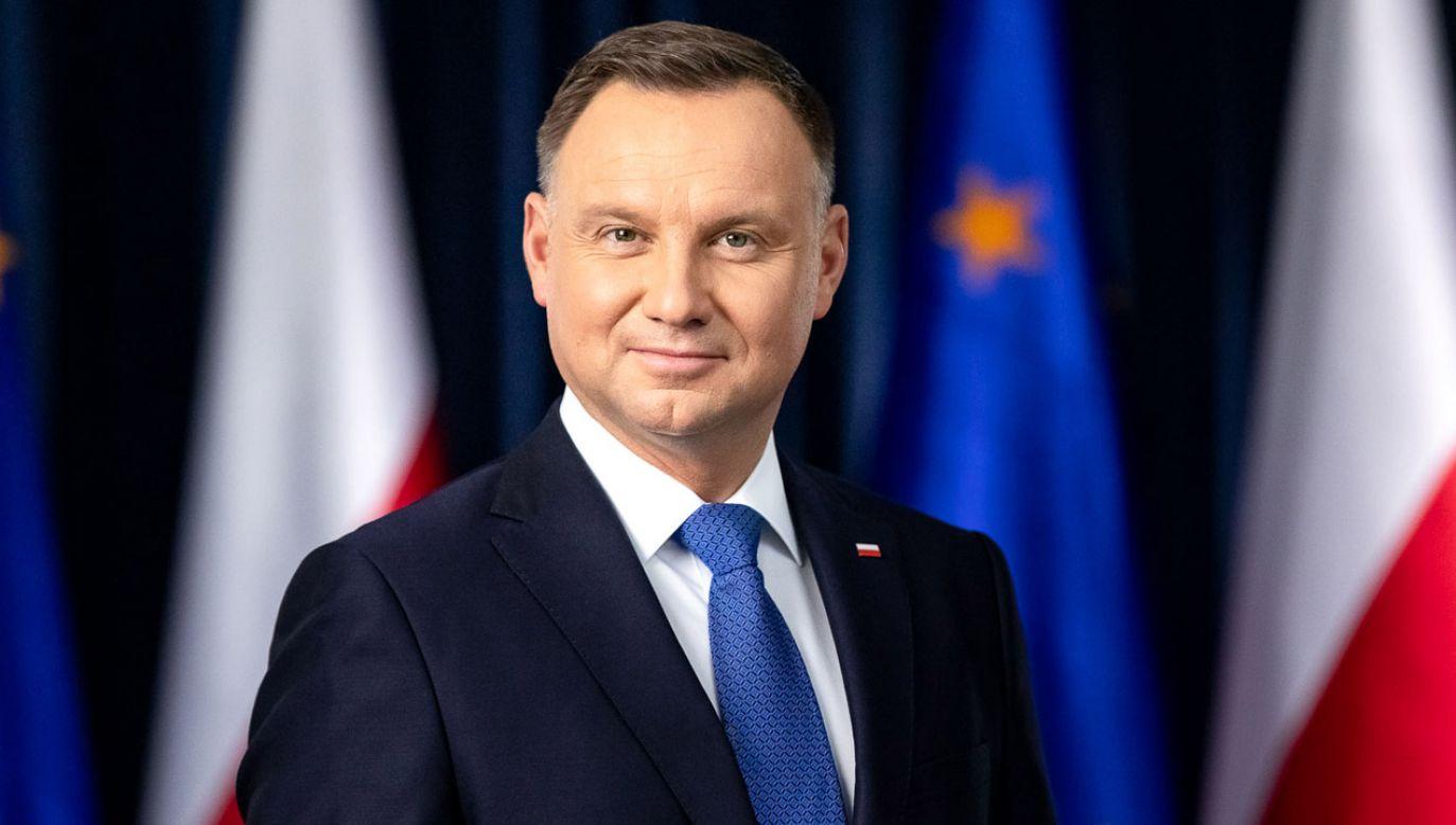 Prezydent Andrzej Duda zachęca do udziału w wyborach do PE (fot. Jakub Szymczuk/KPRP)