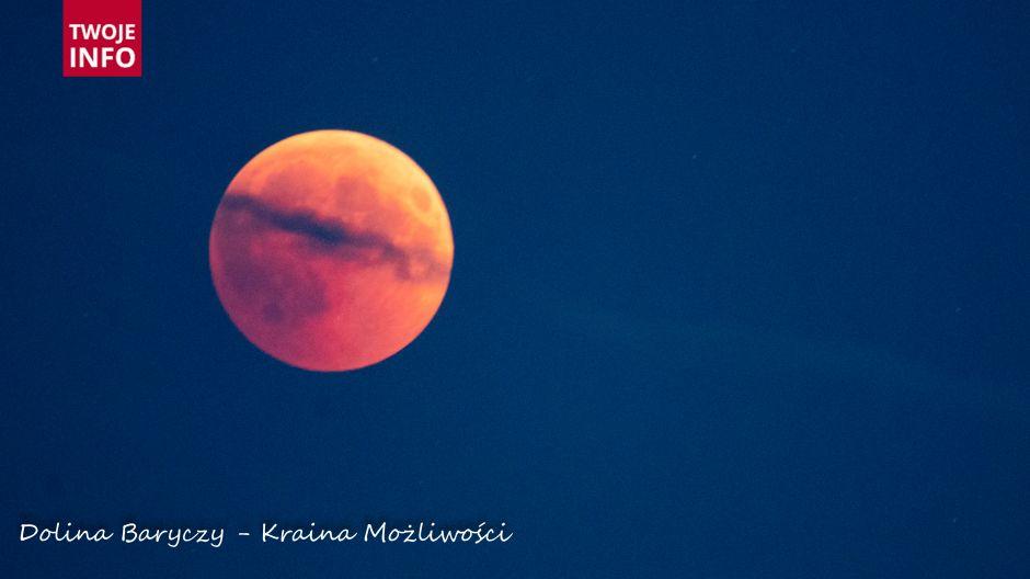 Zaćmienie Księżyca w Dolinie Baryczy w Miliczu (fot. Twoje Info)