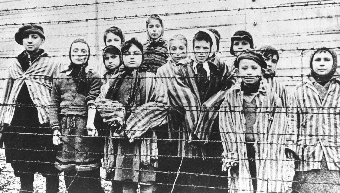 """W Muzeum Auschwitz Manfred napisał, że """"ludzie są bezbronni z powodu nienawiści rasowej"""" (fot. Votava/Imagno/Getty Images) ."""