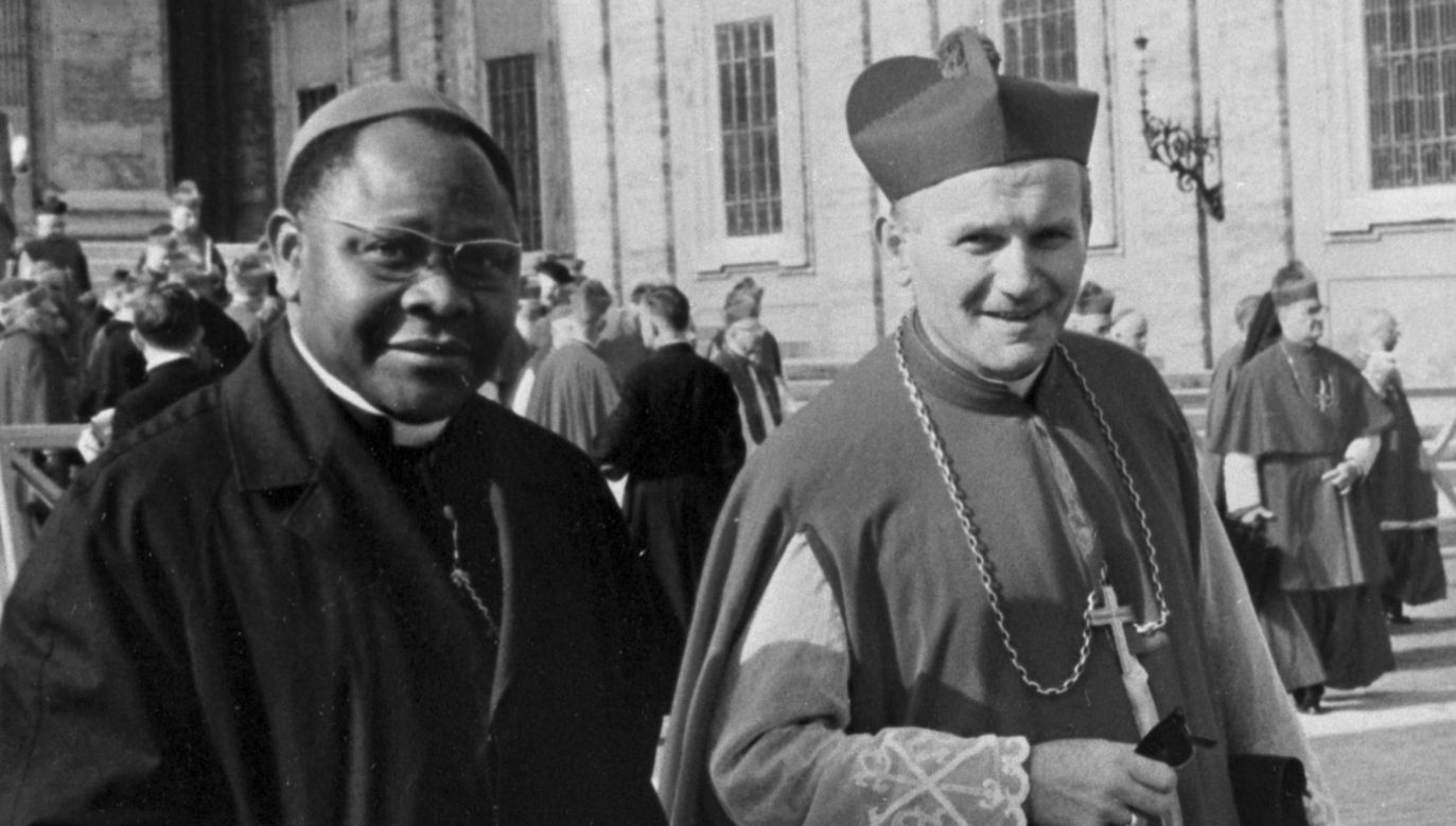 Archbishop Karol Wojtyła (R) during the Second Vatican Council. Photo: PAP arch./PAI