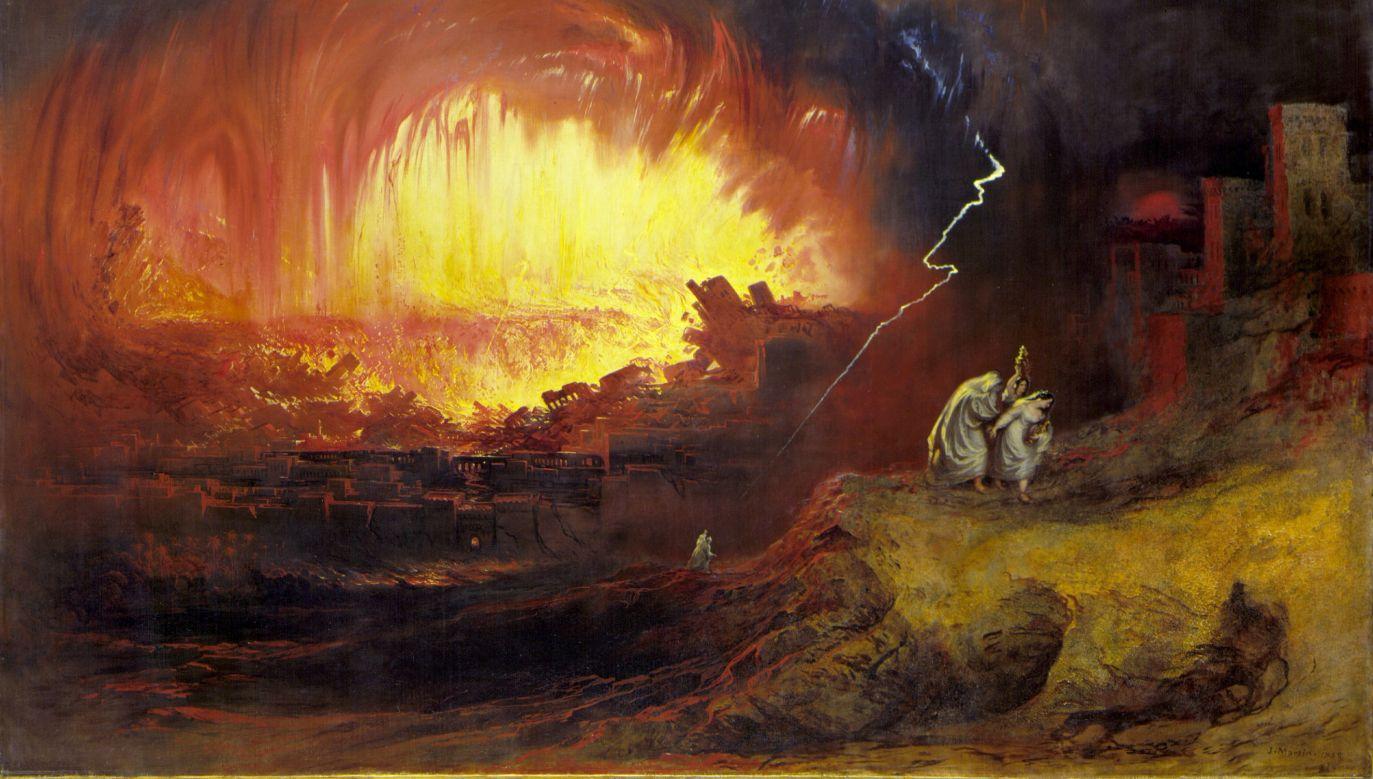 """""""Zniszczenie Sodomy i Gomory"""" (1852) pędzla Johna Martina. Fot. Wikimedia"""