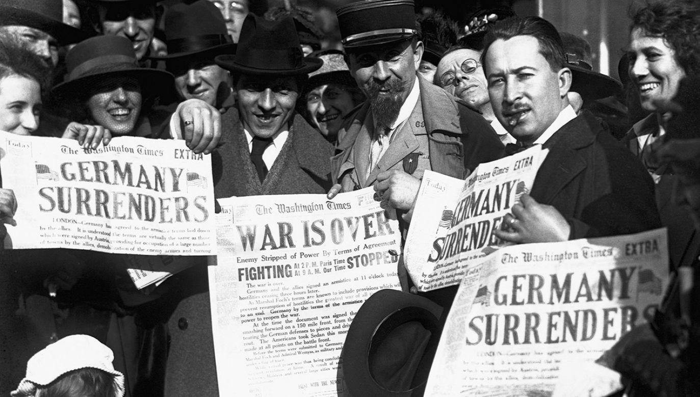 W paryskiej konferencji pokojowej wzięło udział 27 zwycięskich państw koalicji antyniemieckiej, wśród których główną rolę grało pięć mocarstw - Stany Zjednoczone, Wielka Brytania, Francja, Włochy i Japonia (fot. Bettmann/Getty Images)