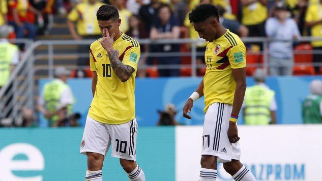 James Rodriguez (z lewej) ma pomóc zespołowi w walce o awans do 1/8 finału (fot. PAP/EPA)