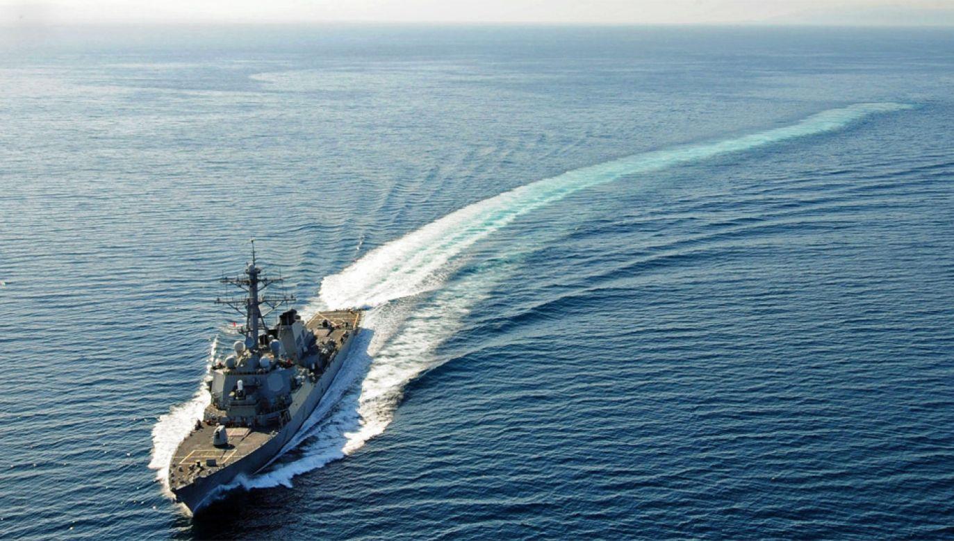 Niszczyciel rakietowy Higgins przepłynął nieopodal Wysp Paracelskich (fot. US Navy)
