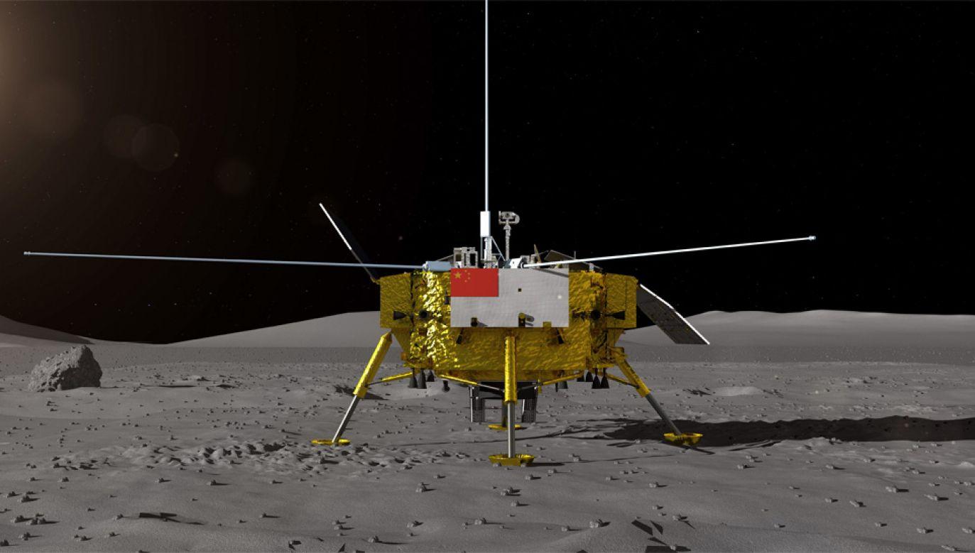 Lot na Księżyc trwał niecały miesiąc (fot. PAP/EPA/China National Space Administration / HANDOUT)