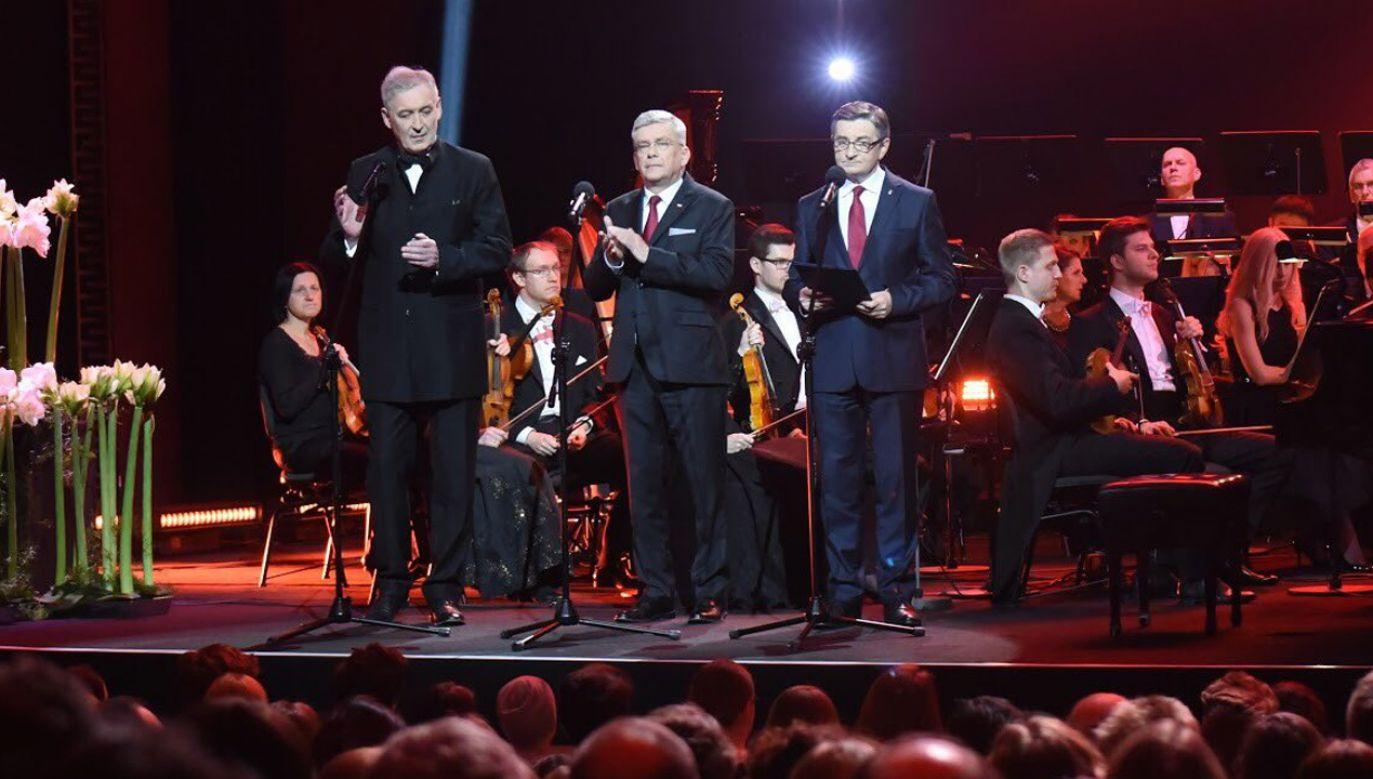 Wystąpienia marszałków Sejmu i Senatu rozpoczęły uroczysty koncert w 100. rocznicę utworzenia Sejmu Ustawodawczego (fot. Twitter/Sejm)