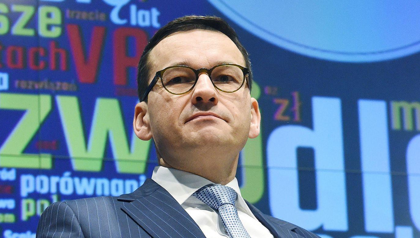 Wicepremier, minister rozwoju i finansów Mateusz Morawiecki (fot. PAP/Radek Pietruszka)