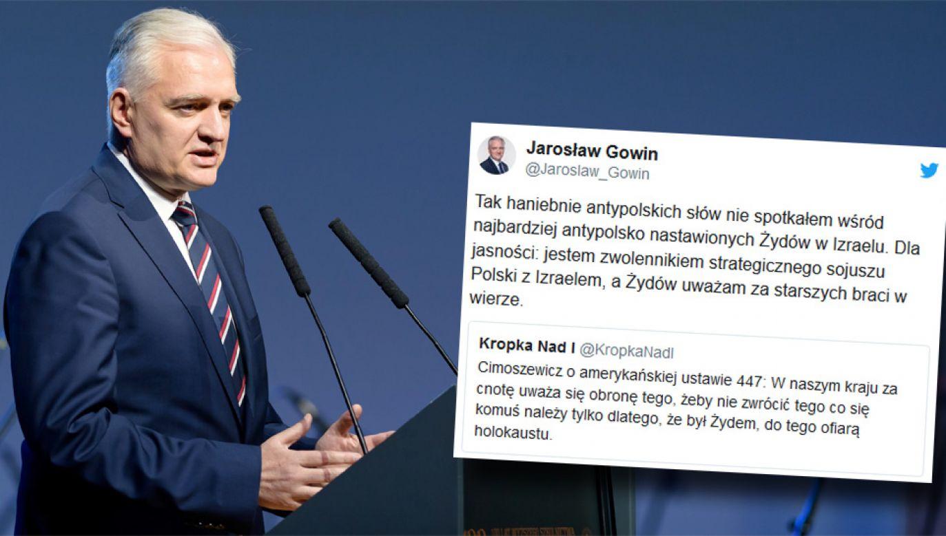 Wicepremier i lider Porozumienia Jarosław Gowin (fot. PAP/Jakub Kaczmarczyk/TT)