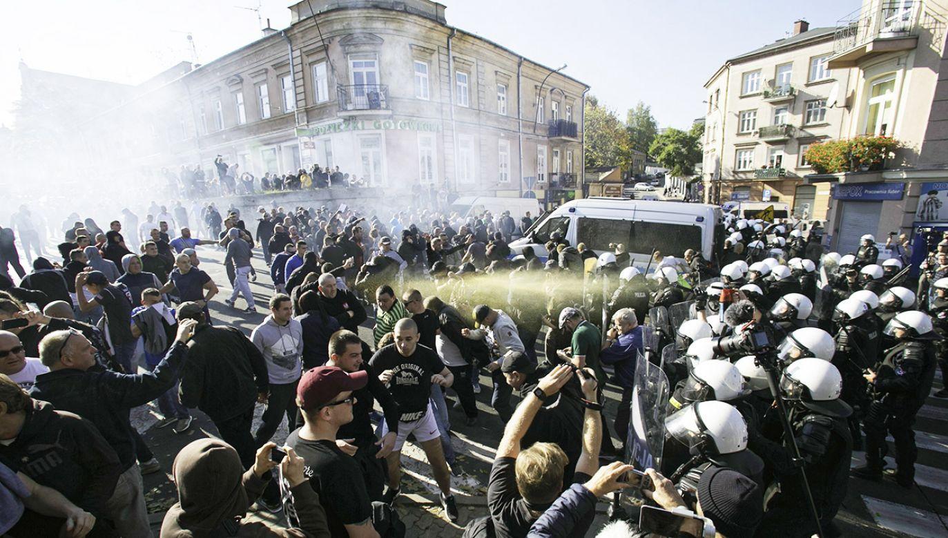 W lubelskim Marszu Równości wzięło udział około 1,5 tys. osób (fot.  PAP/Wojtek Jargiło)