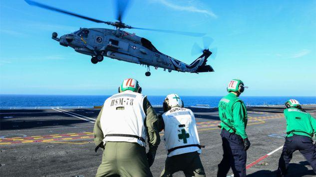 W wypadku rannych zostało kilku marynarzy (fot. Wiki/Seaman Jonathan Nelson)