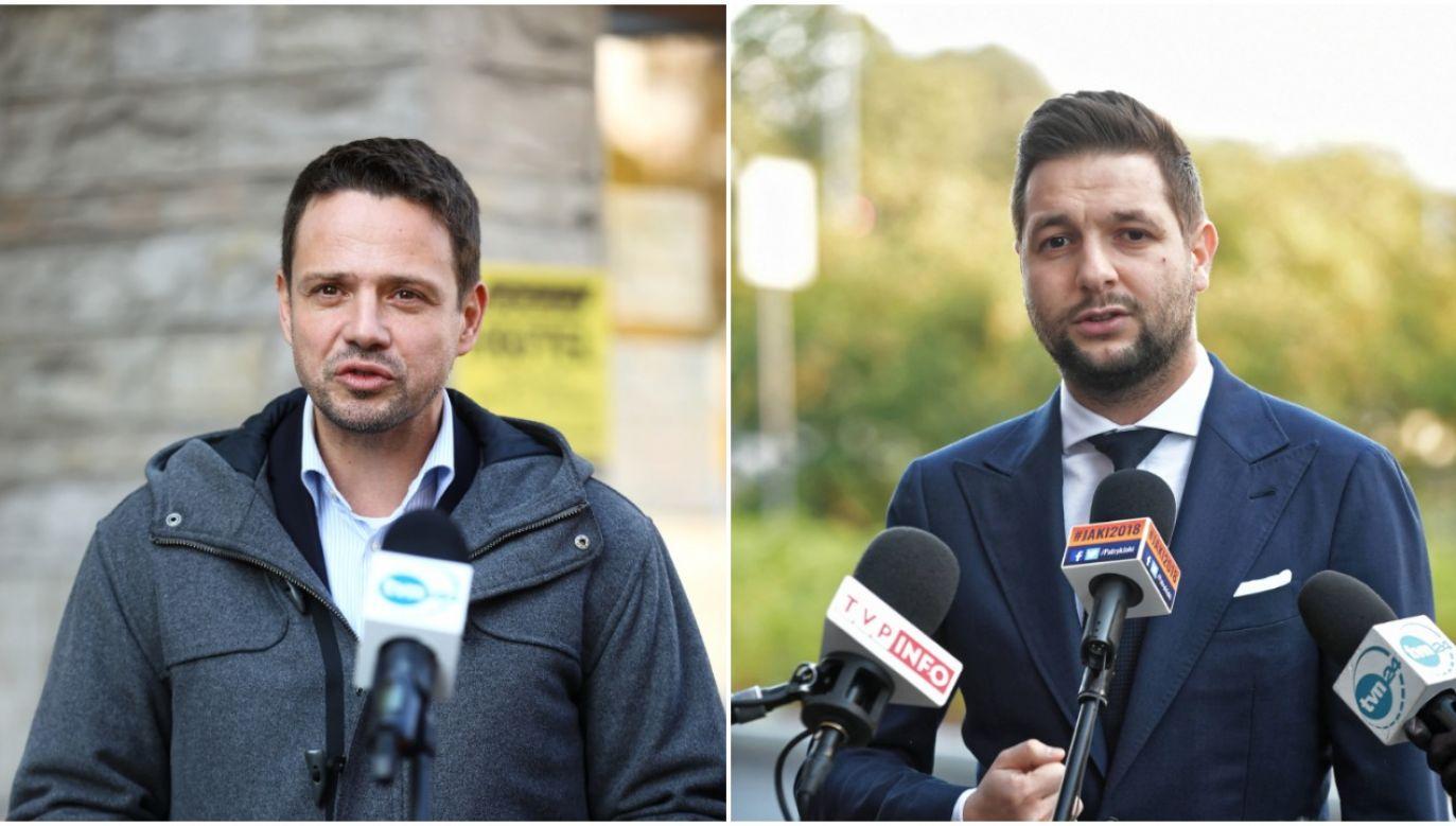 In Warsaw, Rafał Trzaskowski (L) gets ahead of Patryk Jaki (R) in the newest poll. Photos: PAP/Rafał Guz (L), PAP/Marcin Obara (R)