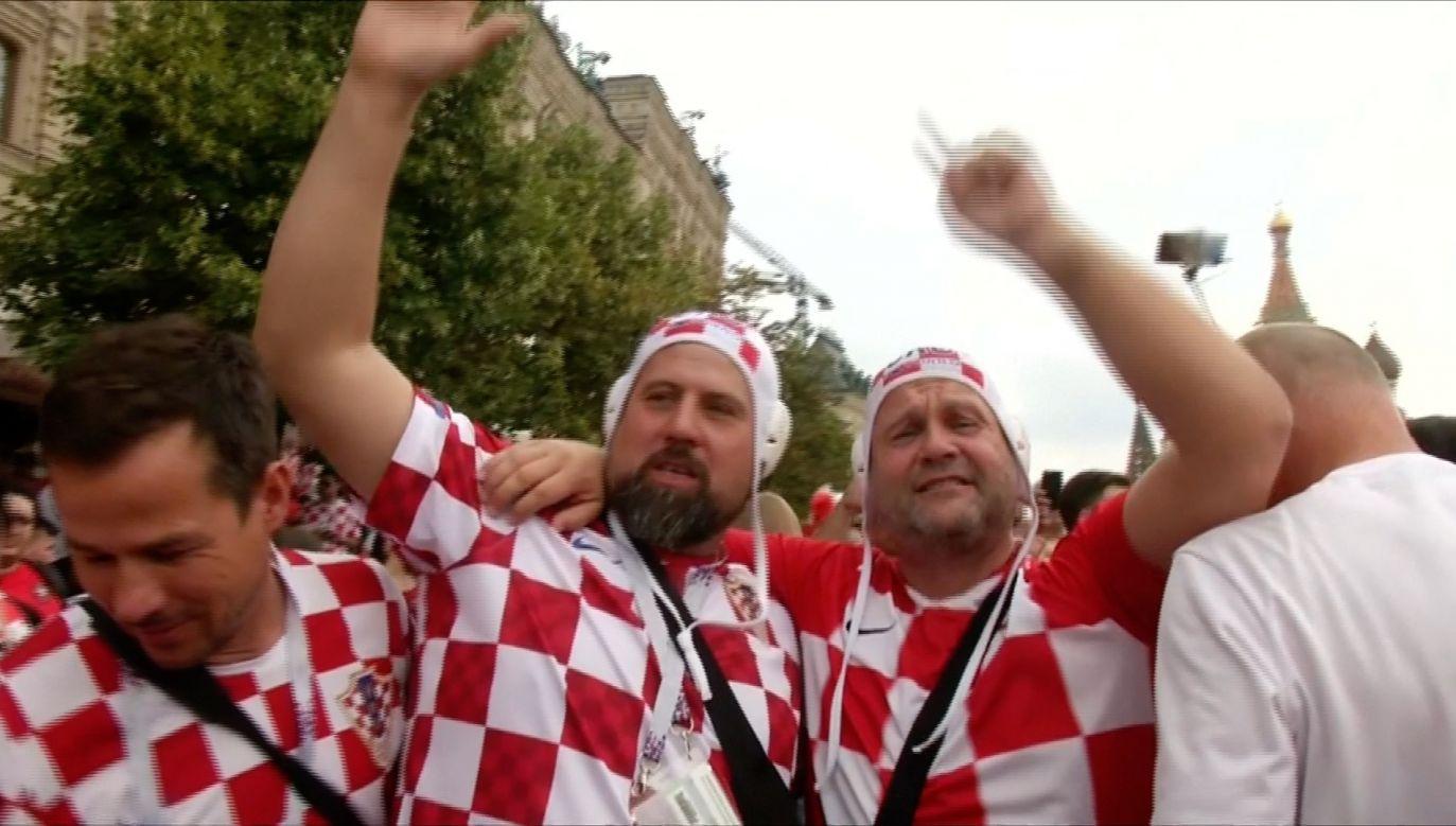 Kibice Chorwacji na placu czerwonym (fot. Reuters)