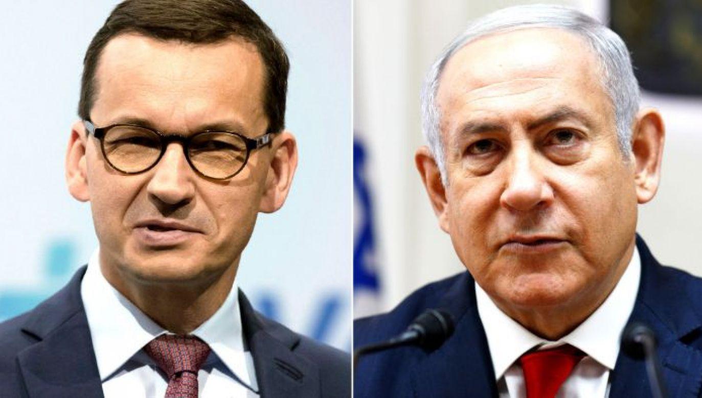 Premier Izraela Benjamin Netanjahu w rozmowie telefonicznej z premierem Mateuszem Morawieckim zapewnił, że w żadnym momencie nie przypisywał Polsce ani polskiemu narodowi odpowiedzialności za niemieckie zbrodnie(fot. PAP/EPA)