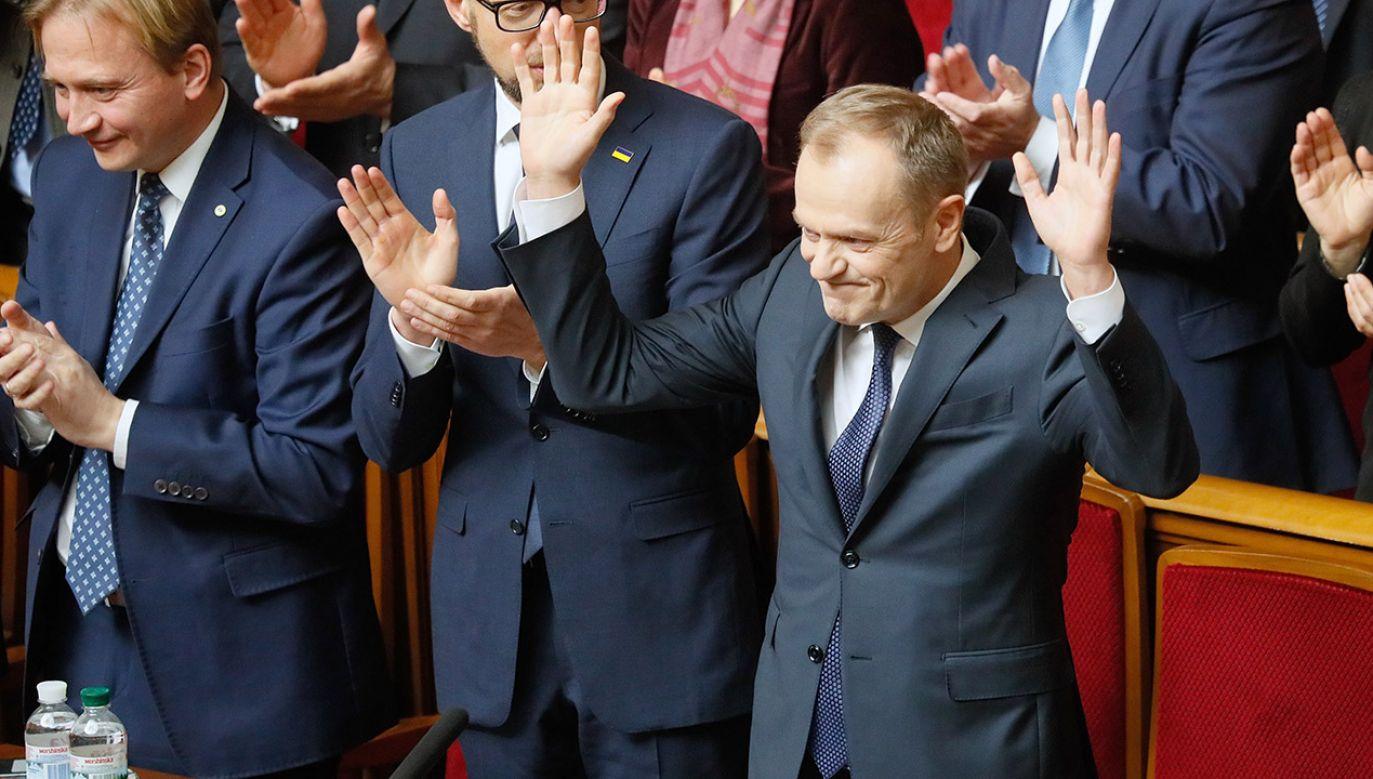 Szef ludowców uważa, że co zrobi naprawdę Tusk dowiemy się dopiero po euro wyborach (fot. PAP/EPA/SERGEY DOLZHENKO)