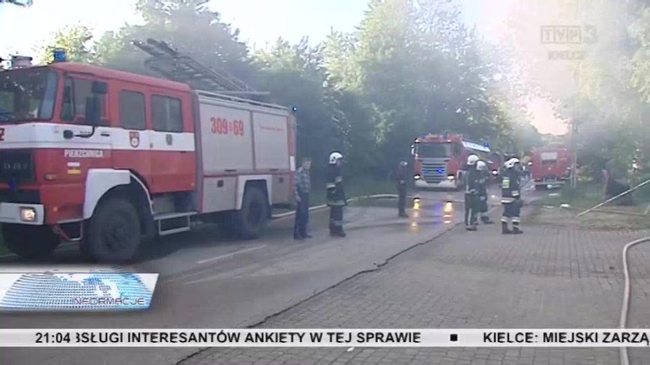 Pożar w masarni Janpol w Chmielniku. Ewakuowano załogę