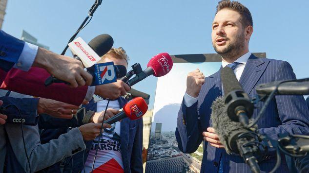 – Musimy zrobić wszystko, żeby wyrwać Warszawę z korupcyjnego układu – powiedział Patryk Jaki  (fot. PAP/Jakub Kamiński)