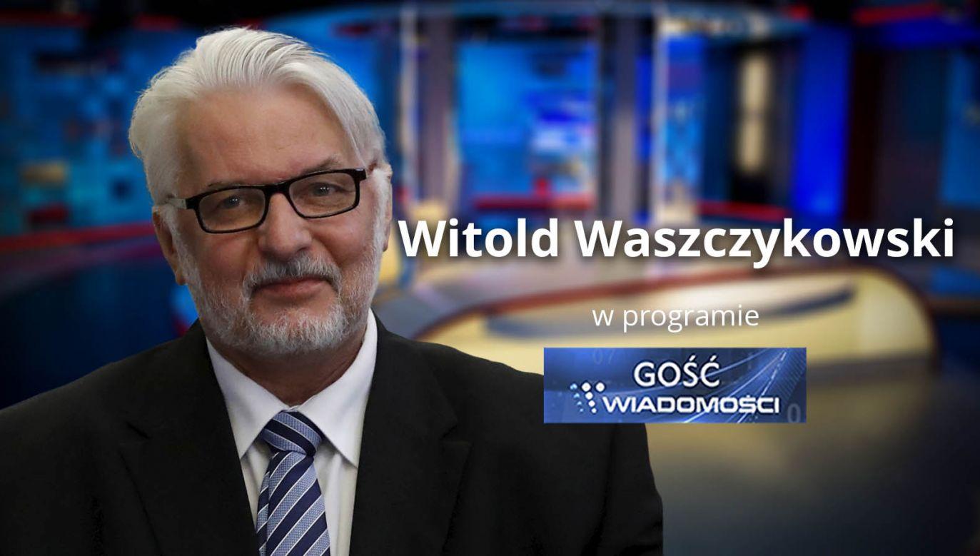 """Witold Waszczykowski wystąpi w programie """"Gość Wiadomości"""" (fot. TVP)"""