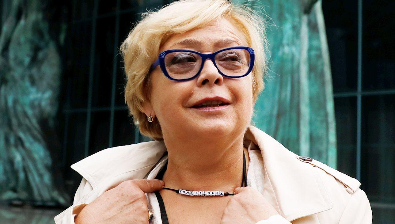 """Małgorzata Gersdorf powołując się na status """"konstytucyjnego organu państwa"""", wezwała sędziów w stanie spoczynku do podjęcia służby (fot. REUTERS/Kacper Pempel)"""