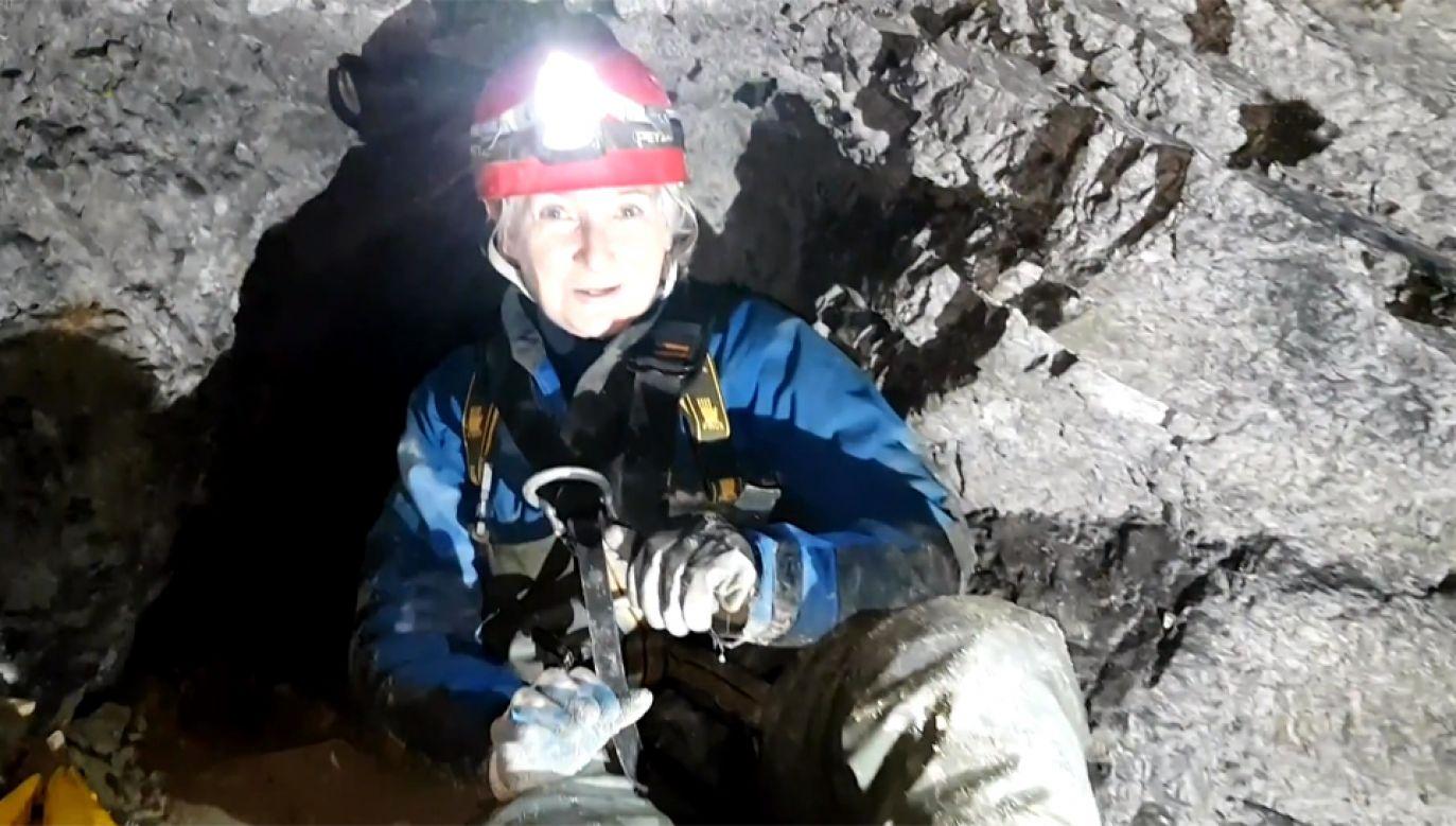 Podziemny świat, pełen mrocznych tajemnic jest pasją dla właścicielki kopalni (fot. TVP Info)