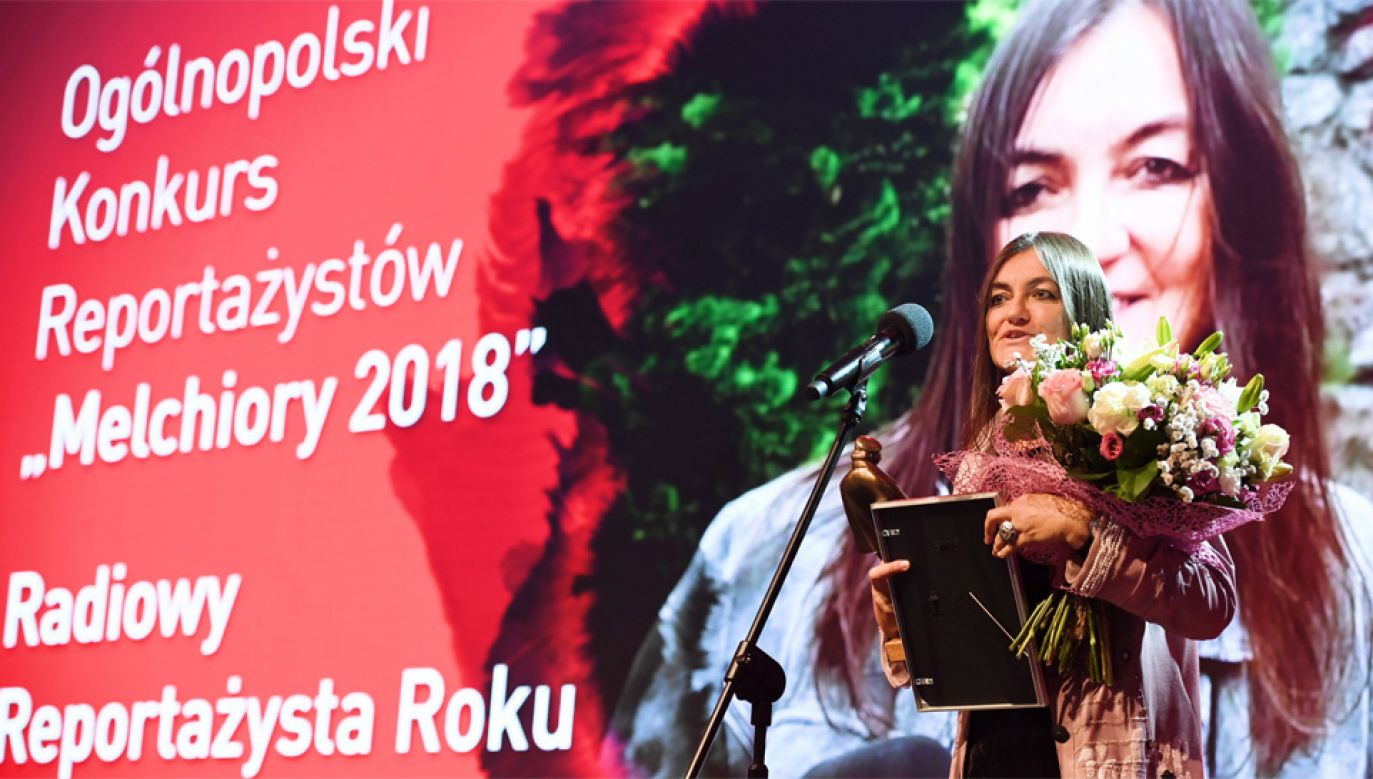 Złotego Melchiora w kategorii Radiowy Reportażysta Roku otrzymała Dorota Jaśkiewicz-Łebek (fot. PAP/Jacek Turczyk)