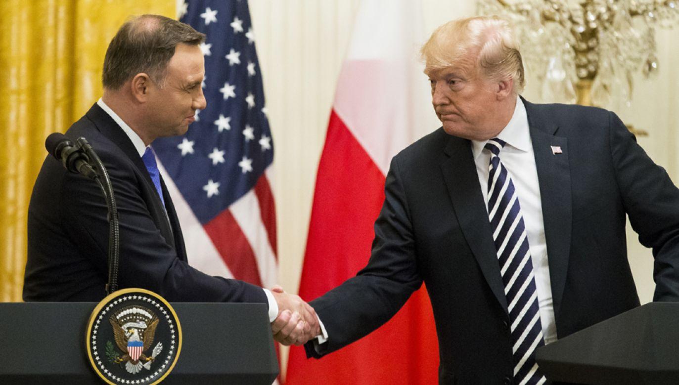 Prezydent Andrzej Duda spotkał się w Białym Domu z prezydentem USA Donaldem Trumpem (fot. PAP/EPA/MICHAEL REYNOLDS)