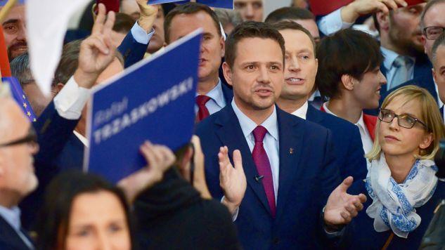 """Kandydat Koalicji Obywatelskiej apelował, by w najbliższą niedzielę pokazać """"otwartość i tolerancję"""" (fot. PAP/Jakub Kamiński)"""