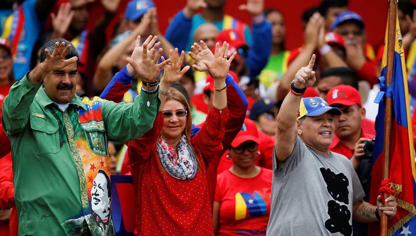 58-letni Maradona był m.in. selekcjonerem reprezentacji Argentyny w latach 2008-2010, pracował też w Zjednoczonych Emiratach Arabskich (fot. REUTERS/Carlos Garcia Rawlins)