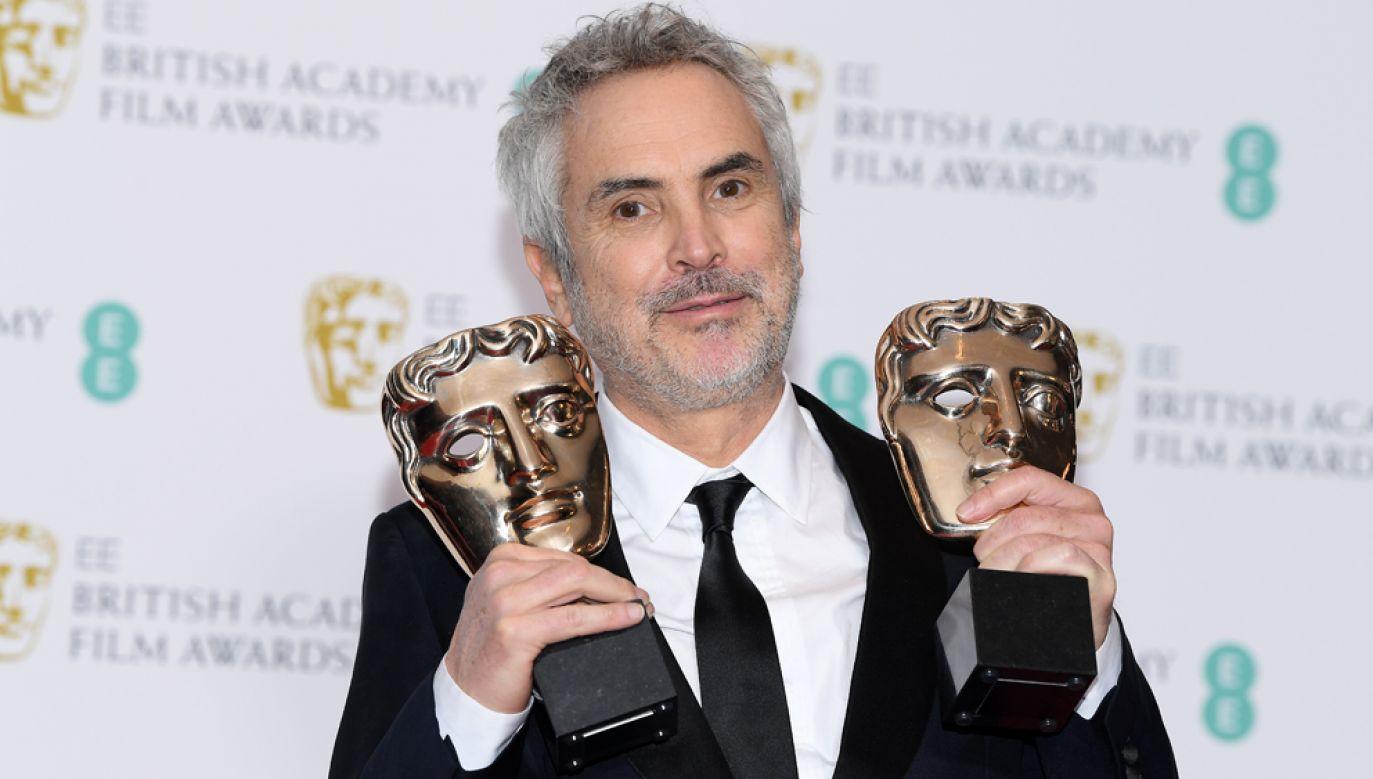 """Reżyser filmu """"Roma"""" Alfonso Cuaron wygrał w najbardziej prestiżowych kategoriach – najlepszy film, najlepsza reżyseria i najlepsze zdjęcia (fot. Pascal Le Segretain/Getty Images)"""