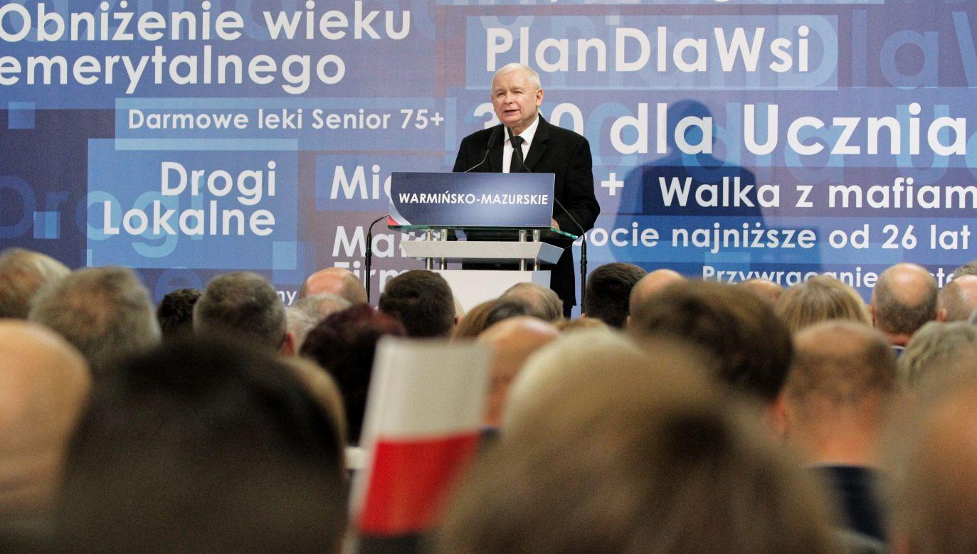 Zamiast drogi korzyści wybraliśmy drogę pod górę – mówił Jarosław Kaczyński (fot. PAP/Tomasz Waszczuk)