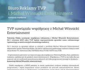 Biuro Reklamy TVP i Michał Winnicki Entertainment nawiązują współpracę