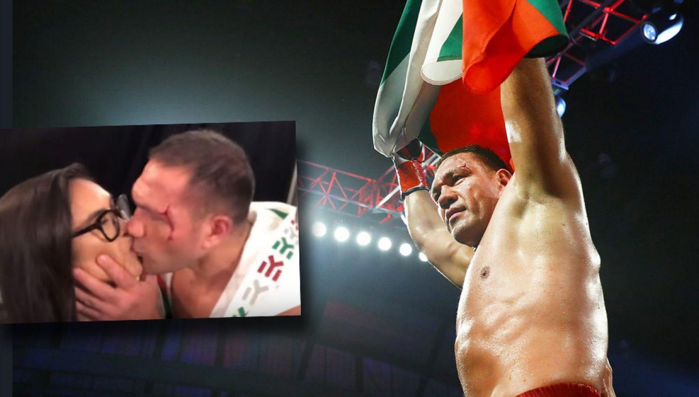 Bokser wagi ciężkiej Kubrat Pulew pocałował po walce Jenny Ravalo (fot. TT/Kubrat Pulev/YT/ESPN)
