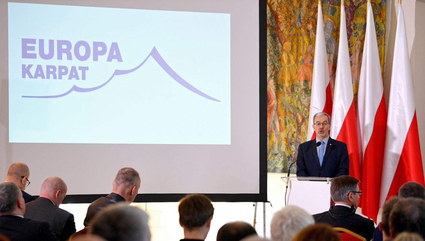 Drugi dzień konferencji na temat strategii karpackiej (fot. PAP/Darek Delmanowicz)